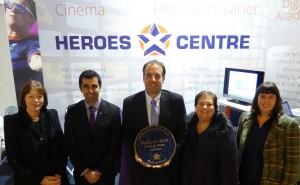 Humza Yousaf MSP visits Heroes Centre